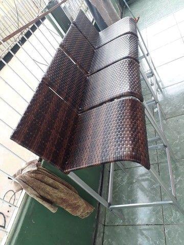 Fabricamos banqueta de alumínio em fibra sintética por encomenda  - Foto 2