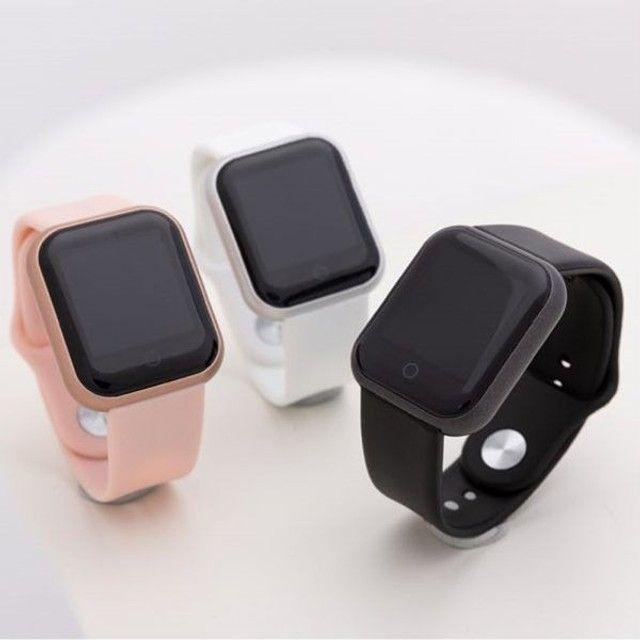 D20 Rosa Relógio Smart Funções Celular Esportivas - Foto 2