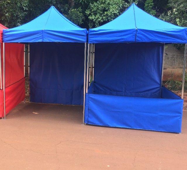 Tenda Sanfonada Nylon 2x2 Azul #ProntaEntrega  - Foto 5