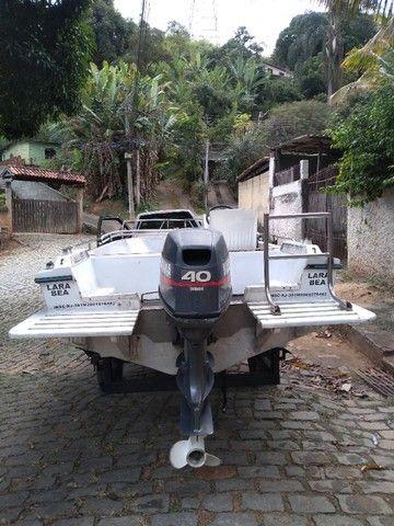 Vendo lancha com motor Yamaha de 40hp - Foto 4