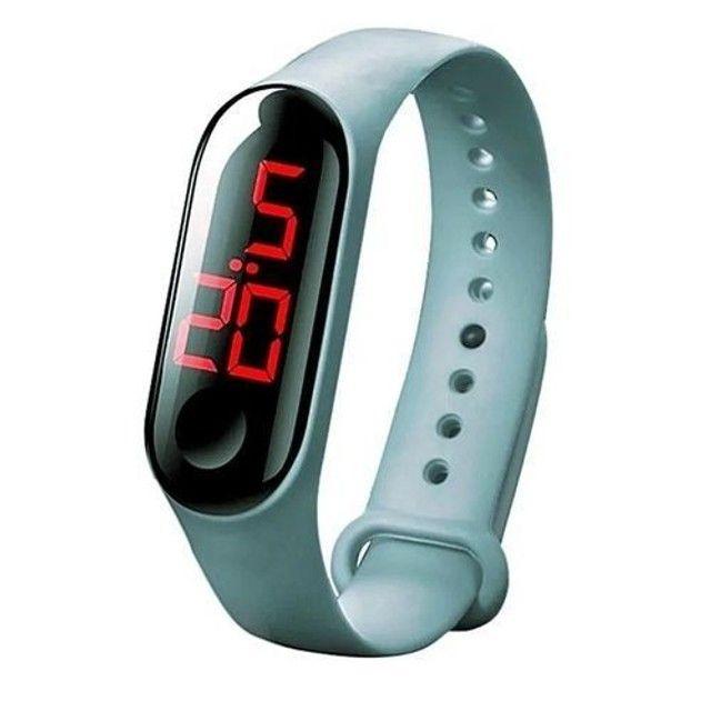Relógio pulseira digital led (entrego ) - Foto 2