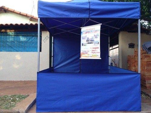 Tenda Sanfonada Nylon 2x2 Azul #ProntaEntrega  - Foto 6