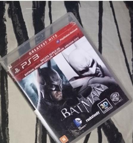 Jogo game de PS3 Batman Arkhan Asylum + City - 1 cd com 2 jogos