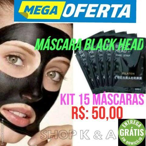 Kit 15 Máscara Black Head (cara preta) Removedora De Cravos Pilaten