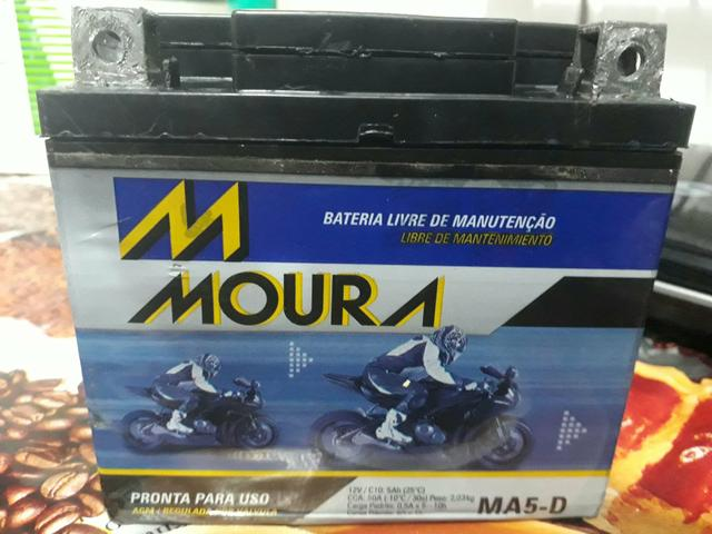 Bateria para moto semi nova