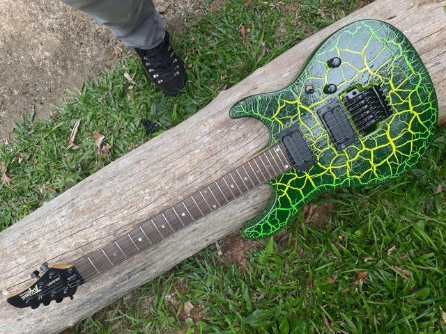 Guitarra Vulcan Tagima Pintura Personalizada e Ponte Ibanez Edge III - Foto 2