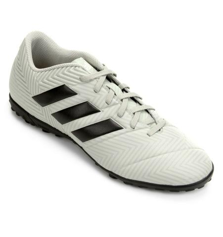 Chuteira Society Adidas Nemeziz Tango 18 4 TF - Cinza e Preto