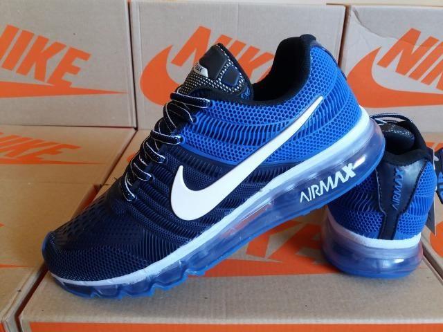 542c98eca30 Tênis Nike Air - Azul Marinho   Azul Royal - Frete Grátis - Roupas e ...