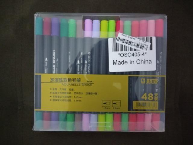Brush pen - Canetas ponta dupla 48 cores ponta pincel e ponta fina