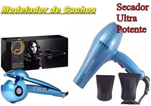 30a504040 Modelador De Cachos Nano Titanium Cacheador Bivolt Oficial + Secador Cabelo