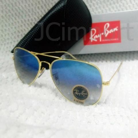 67a7abe3d Óculos de sol RB Aviador Azul degrade 3026 Lentes com proteção UV400 ...