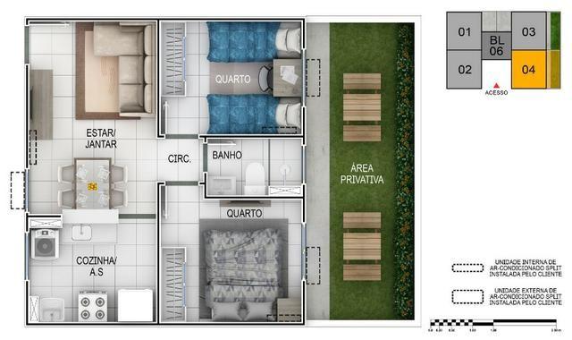 Apartamento no Setor Perin Gran Vitta com Elevador Ent. R$ 500,00 e escritura Grátis - Foto 12