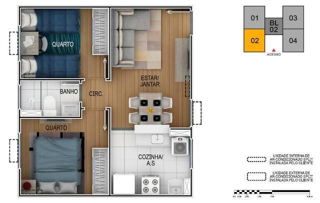 Apartamento no Setor Perin Gran Vitta com Elevador Ent. R$ 500,00 e escritura Grátis - Foto 13