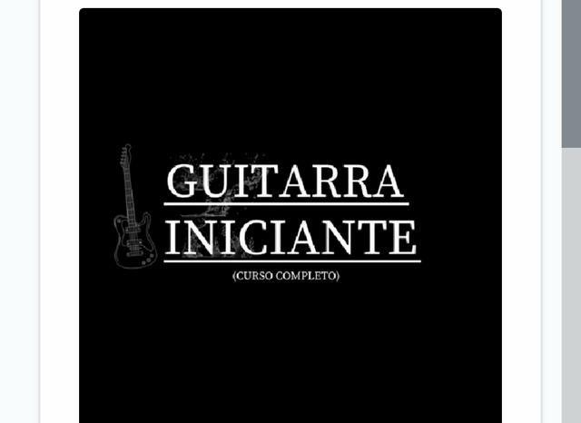 Curso para tocar guitarra