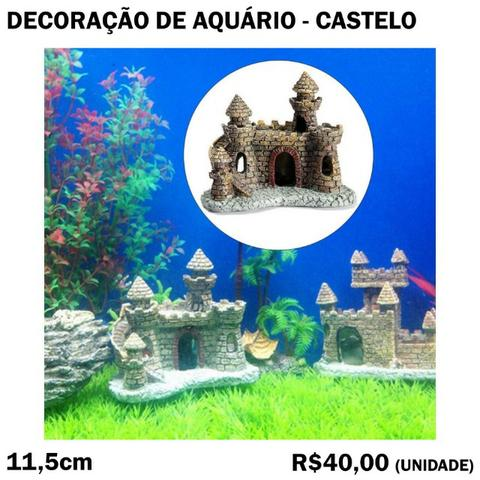 Decoração de Aquário - Castelo