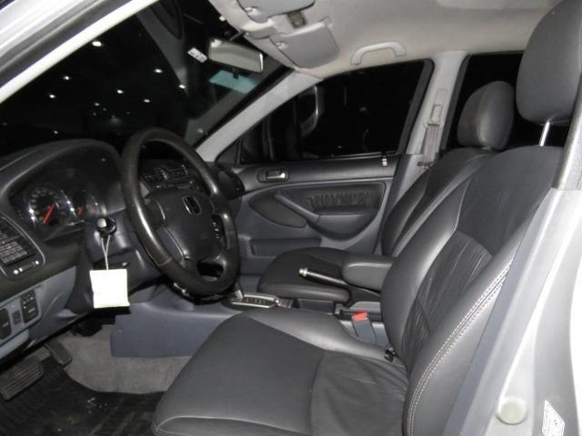 Honda Civic 1.7 EX 16v 4p Automático Blindagem III-A Completo C/ Couro - Foto 14