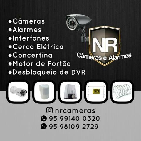 Segurança Eletrônica, Câmeras, Alarmes, Interfones, Cerca Elétrica, Concertina.