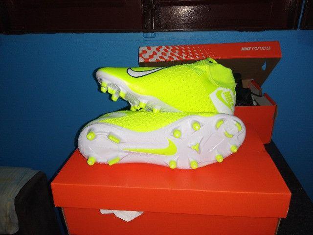 Chuteira 11 Nike Phantom vsn academy Df fg/mg - Foto 5