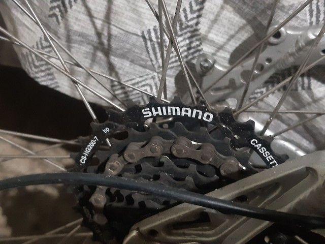 Bicicleta gios xc3 aro 26 quadro 16 toda Shimano  - Foto 5