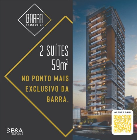 Lançamento Barra Conceito, Apto 2 suítes com varanda, no ponto mais exclusivo da Barra