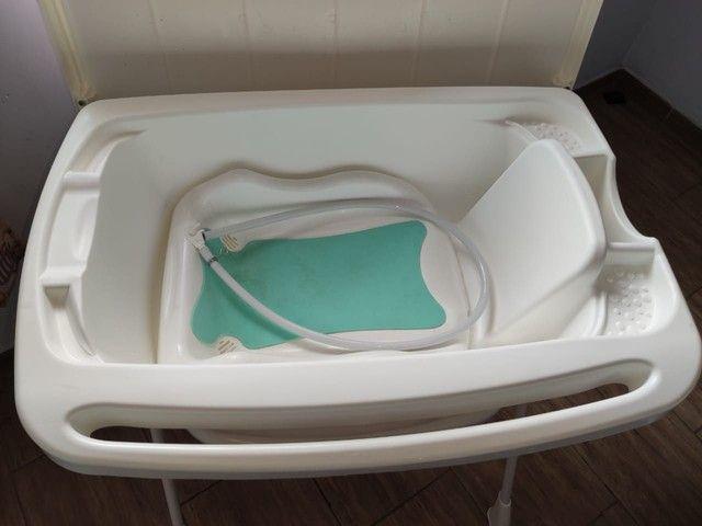 Banheira de bebê Burigotto com suporte e trocador - Foto 2
