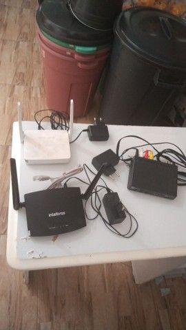 Roteador wifii 150 MB/s e conversor digital