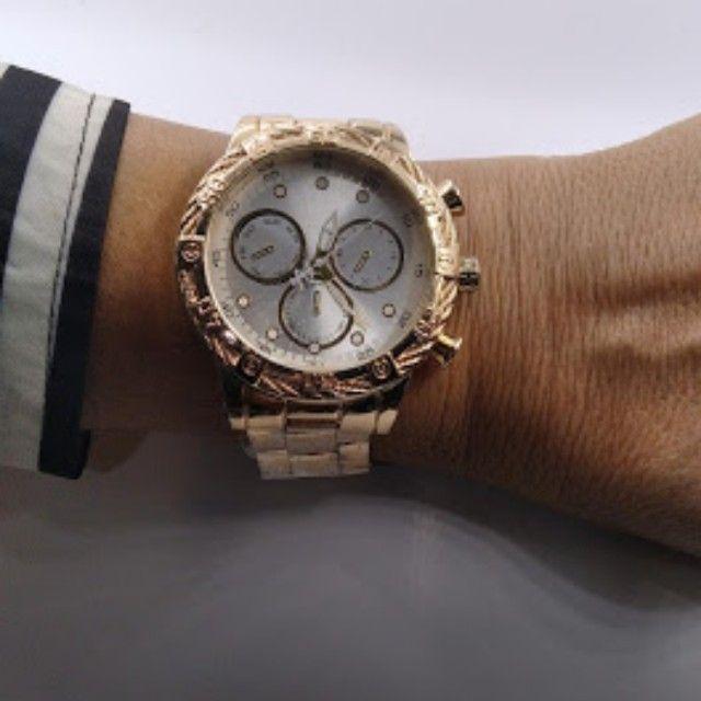 Relógio masculino marca Durans pulseira metal - Foto 3