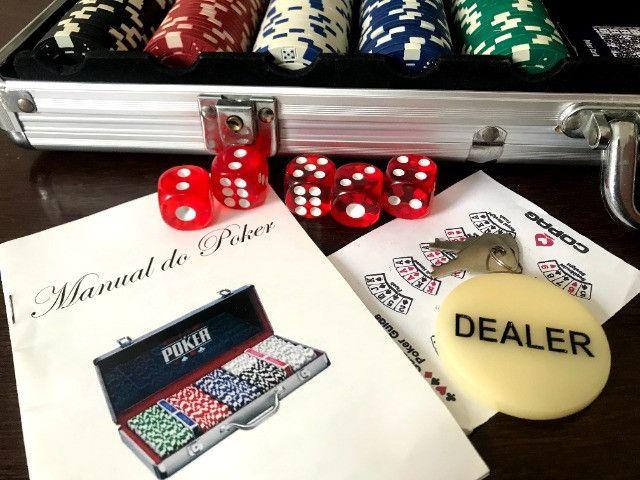 Maleta Poker 500 Fichas | Baralho - Jogo - Sorocaba - Foto 2