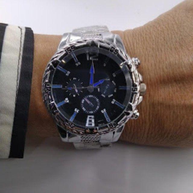 Relógio masculino marca Durans pulseira metal - Foto 2