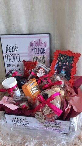 Cesta de café da manhã box de flores e muito mais  - Foto 6