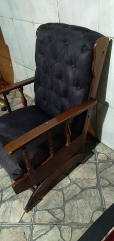 Cadeira de escritório reformada (recepção) com balanço  - Foto 2