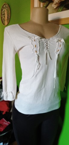Blusa Tricô Branca - Tam. M - Foto 5