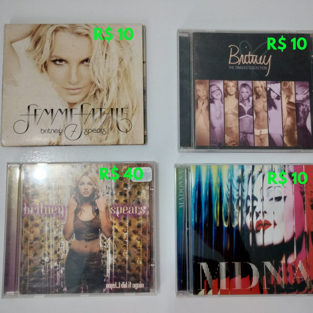 CD BRITNEY SPEARS (MADONNA VENDIDO)
