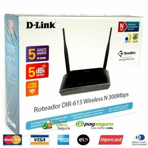 Roteador Wireless D-link N 300Mbps Novo (entrego)