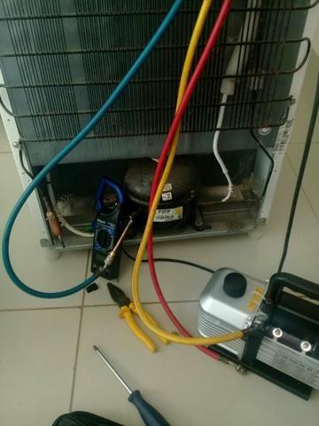 Consertamos sua geladeira:gas, relé,motor,placas e componentes