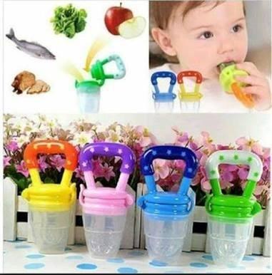 Chupeta Alimentadora Bebês Frutas Em Silicone rosa ou azul pronta entrega