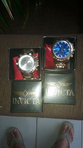 Relógio invicto Zerado na caixa cada um deles custo r$160