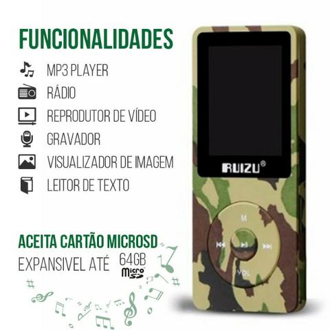 Mp3/Mp4 Ruizu X02 8g Camuflado
