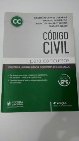 Vendo Livro do Código Civil para Concursos