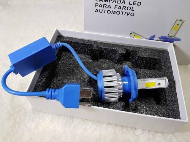 Lampada LED Farol H4 4100LM de potencia 36W com Cooler (Uma Unidade/Moto) - Foto 7