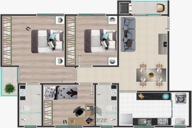 Apartamento 03 quartos(1 suíte) sacada churras. - Foto 9