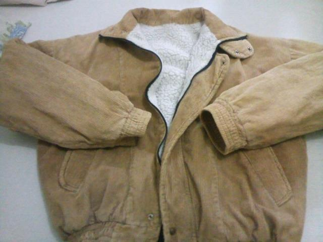 Jaqueta veludo forrado com lã carneiro tam U