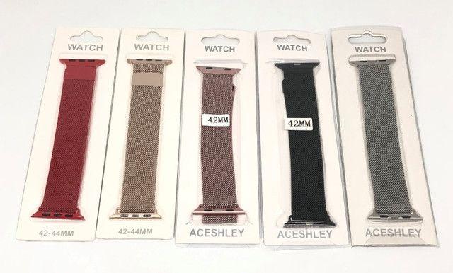 Pulseira Magnética Para Relógio Smartwatch Apple Watch 42mm 44mm Produto Novo - Foto 2