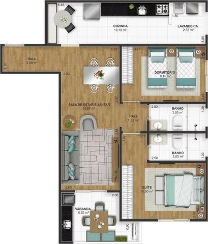 2 Dorms e 2 Vagas na Ocian | Entrada de 40Mil e Mensais de 1.780 - Foto 11