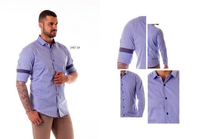 Camisa social masculina - Foto 3