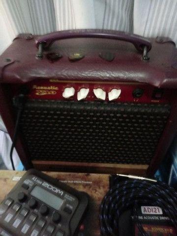Amplificador e pedal acústico - Foto 2