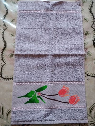 Toalha de lavabo e manicure