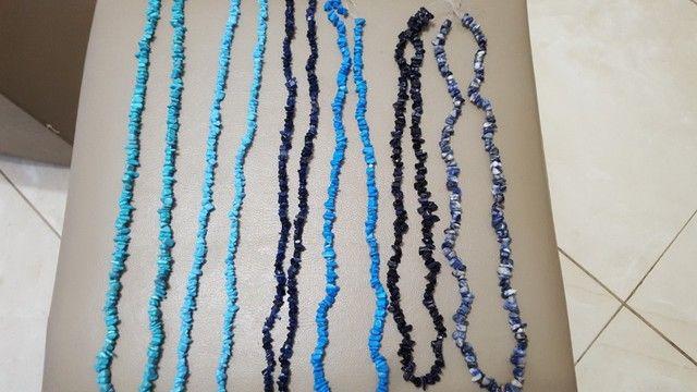 Lote de cordões  cascalho de pedras brasileiras  - Foto 2