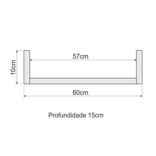 "Kit 2 prateleiras ""U"" 60cm - Foto 2"