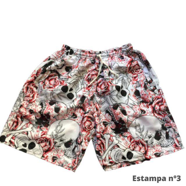 Kit 3 Shorts Masculino Mauricinho Verão Revenda - Foto 5